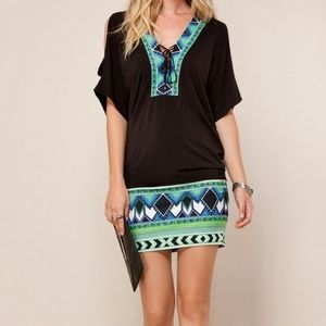 Hale Bob Black printed Jersey Tunic dress | Size M